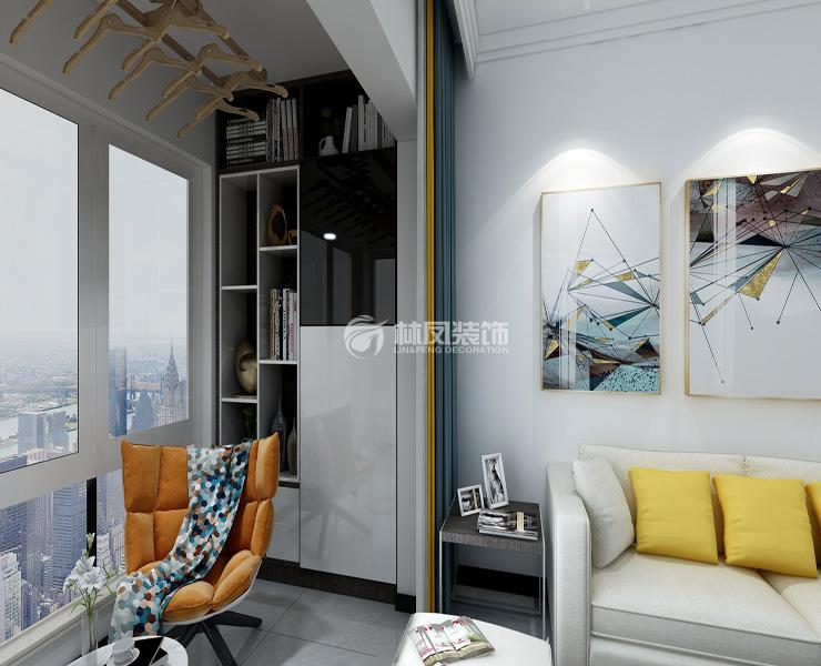 阳台晾衣架设计装修效果图