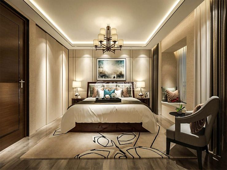 黑白的颜色让整个空间变得更加个性与明亮,电视背景黑白根理石材质的纹理运用在造型上更加的创意,沙发背景的软包材质与颜色使得客厅更加的多了许多柔美。  由于户型餐厅部分空间小的缺憾,设计师运用了反射的原理在材质上选择了茶镜,因为茶镜的颜色与材质让人感到更加的柔和,在反射的过程中不会让人感到厌烦  主卧室的背景墙运用软包当做床头背景,在颜色方面上运用咖色及米色让整个空间更加的时尚、浪漫。