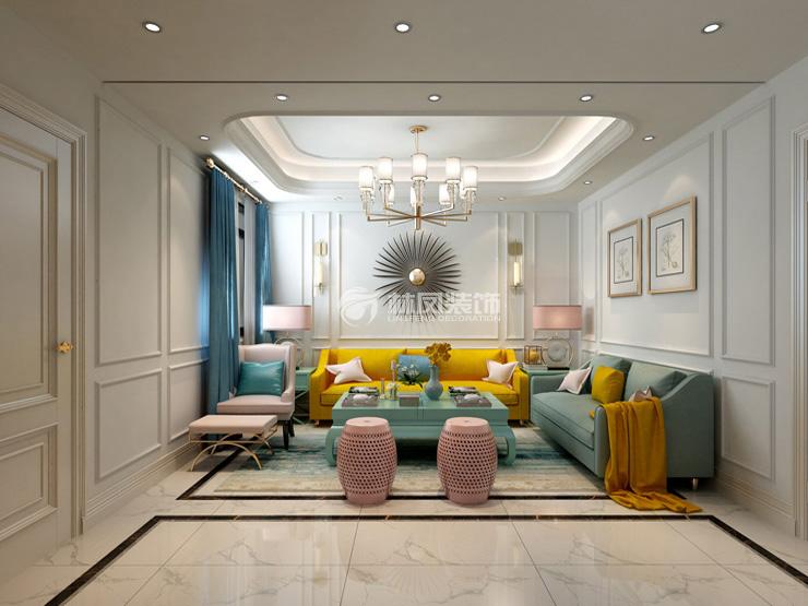 保利十二橡树庄园-356平-欧式田园风格-二层客厅2.jpg