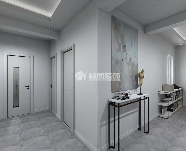 厨房墙选用浅灰色瓷砖